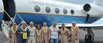 UAVSAR team on deployment in Hawaii