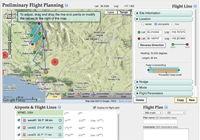 Screenshot of student flight planning website